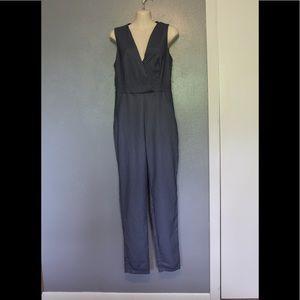 Zara Trafaluc Blue Sleeveless Jumpsuit Small